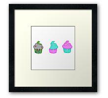 Zombie Cupcake Framed Print