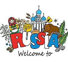 Welcome to Russia. Russian symbols Photographic Print