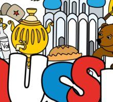 Welcome to Russia. Russian symbols Sticker