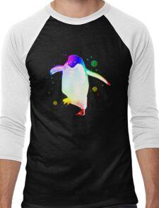 Psychedelic Penguin Men's Baseball ¾ T-Shirt