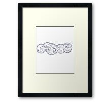 doctor who quotes blue Framed Print
