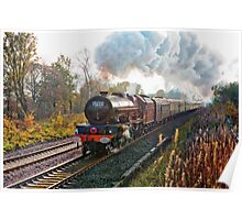"Stanier pacific ""Princess Elizabeth"" at speed, as a painting Poster"