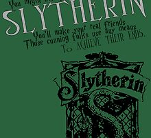 Slytherin Harry Potter House Poster by geekchicprints