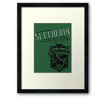 Slytherin Harry Potter House Poster Framed Print