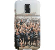 Hands up to the camera! on the beach at Atlantic CIty, NJ, 1905 Samsung Galaxy Case/Skin