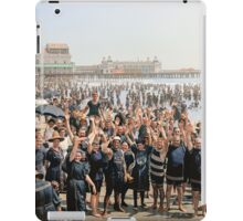 Hands up to the camera! on the beach at Atlantic CIty, NJ, 1905 iPad Case/Skin