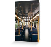 Empty Bus Greeting Card