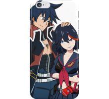 Ryuko and Simon: Gurren Lagann x Kill la Kill iPhone Case/Skin