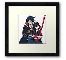 Ryuko and Simon: Gurren Lagann x Kill la Kill Framed Print