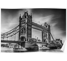 Tower Bridge Black and White  Poster