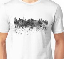 Liverpool skyline in black watercolor Unisex T-Shirt