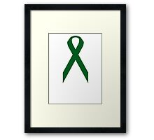 Liver Cancer Awareness ribbon Framed Print