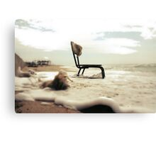 Chair at the sea Canvas Print