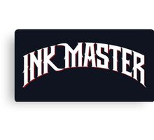 Ink Master logo - white- Spike - tv show - tattoo Canvas Print