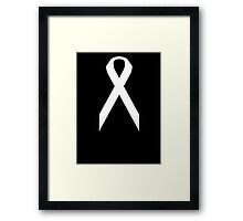 Lung Cancer Awareness ribbon Framed Print