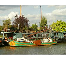 Barge And Floating Garden. Photographic Print
