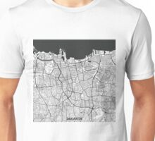 Jakarta Map Gray Unisex T-Shirt