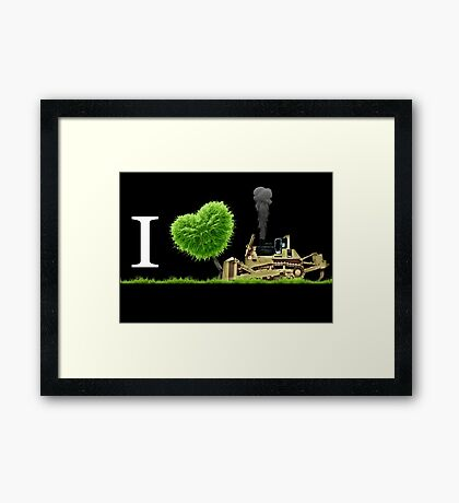 I Love Dozer Framed Print