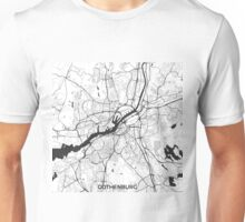 Gothenburg Map Gray Unisex T-Shirt