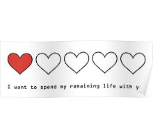 I Want to Spend My Remaining Life With You Poster