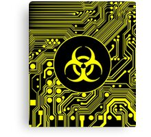 Yellow Biohazard (Cybergoth) Canvas Print