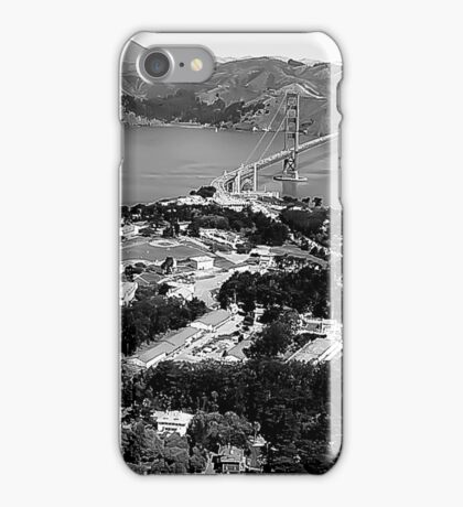 Aerial SF in black and white  iPhone Case/Skin