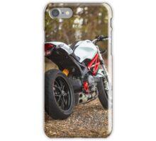 Ducati Monster 796 Rear View iPhone Case/Skin