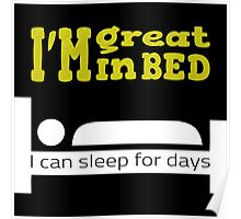 Great in bed Poster