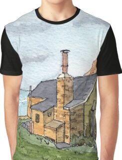 House in Cornwall - From Original Watercolour Graphic T-Shirt