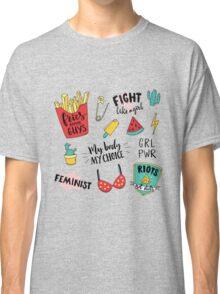Feminism stickers set Classic T-Shirt