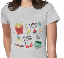 Feminism stickers set Womens Fitted T-Shirt