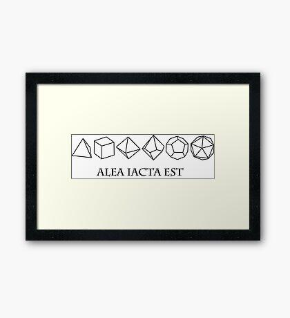 alea iacta est Framed Print