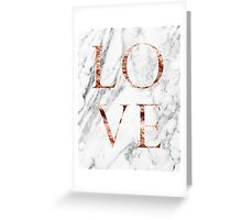 Rose gold marble LOVE Greeting Card