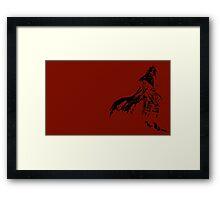 Vincent Valentine Minimalist Red Framed Print
