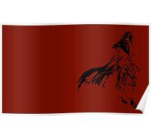 Vincent Valentine Minimalist Red Poster
