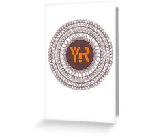 Yoga Rhythms Mandala Logo Greeting Card