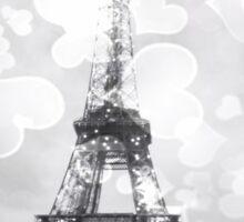 Eiffel Tower, Black and White Sticker