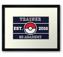 Trainer Go Academy Framed Print