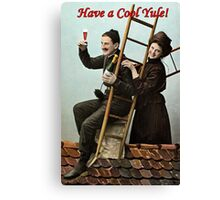 """""""Have a Cool Yule!"""" Vintage greeting card  Canvas Print"""