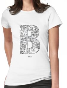 MAPHABET B: Berlin Womens Fitted T-Shirt