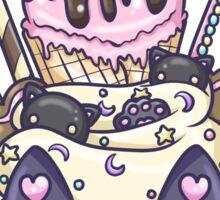 Midnight Kitty Parfait Dessert Sticker