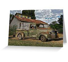 1946 Chevrolet Pickup Truck ' A Survivor' Greeting Card