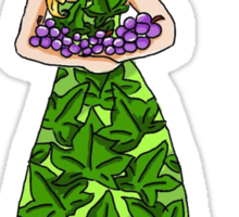 Pretty grapes Sticker
