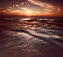 Dramatic sunset at lake Huron Grand Bend art photo print by ArtNudePhotos