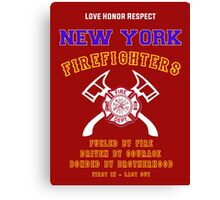 NEW YORK FIREFIGHTERS Canvas Print