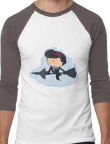 Brawlhalla - Sky Captain Scarlet (black) Men's Baseball ¾ T-Shirt