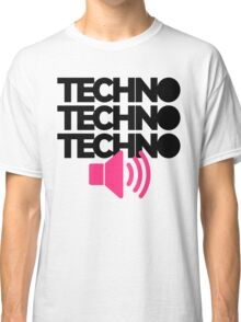 Techno Speaker Music Quote Classic T-Shirt