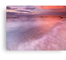 Lake Huron beautiful red sunset sky art photo print Canvas Print