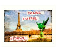 Eternal Love - Parisian Style Art Print