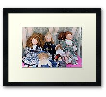 old dolls Framed Print